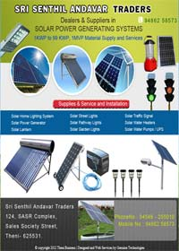 Solar Power Systems IN THENI