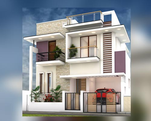 House 3d Elevation Design Expert Sattur Andipatti