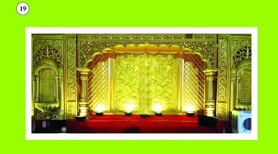 entrance backdrop decoration for wedding chinnamanur