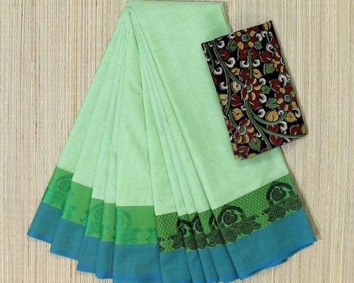 Theni Pure Handwoven Chettinad Cotton Saree Tamil Nadu