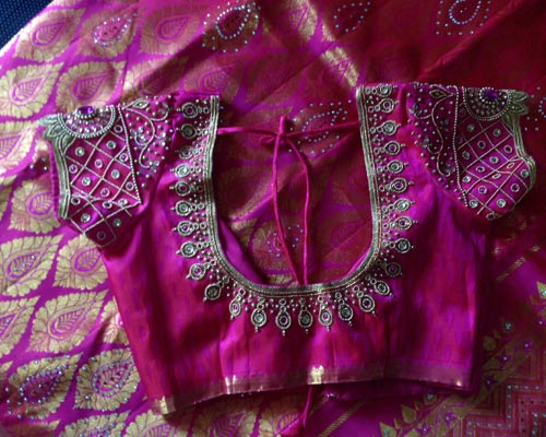 Madurai Kumily MAGGAM WORK WEDDING BLOUSE Tailor Theni