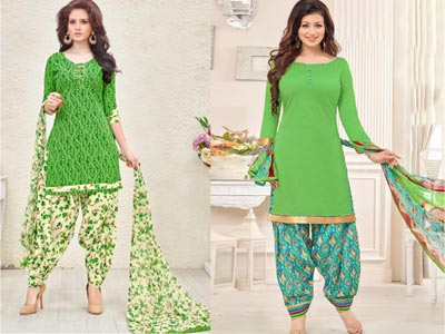 Patiala Suit With Print Work