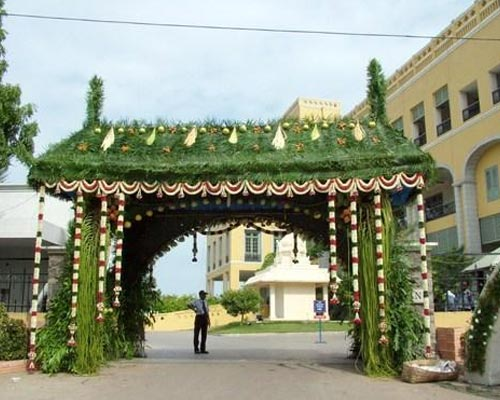 Usilampatti Traditional Green Pandhal Decoration Madurai Coimbatore