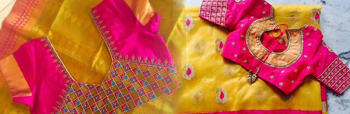 wedding blouse designer thevaram