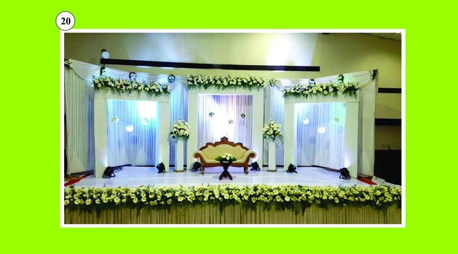 Engagement backdrop decoration theni
