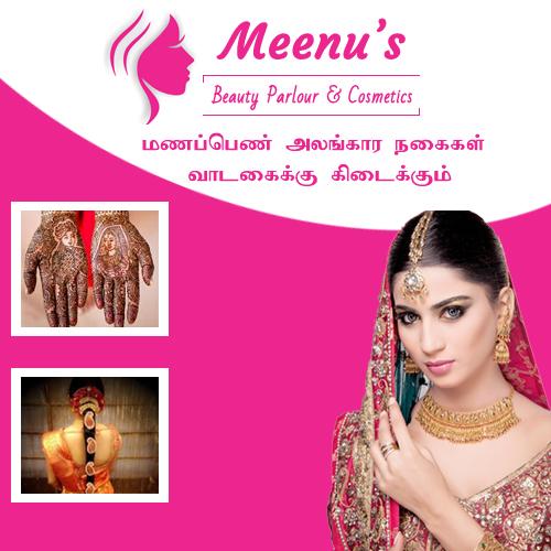 Bridal Makeup set for hire in periyakulam