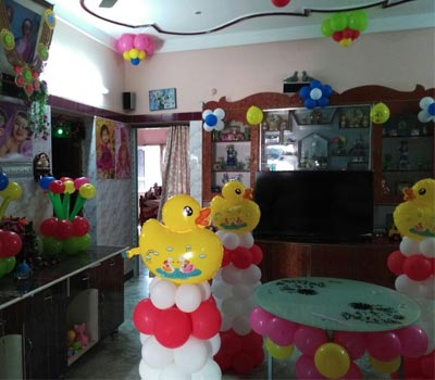 Affordable balloon Stage Decor theni