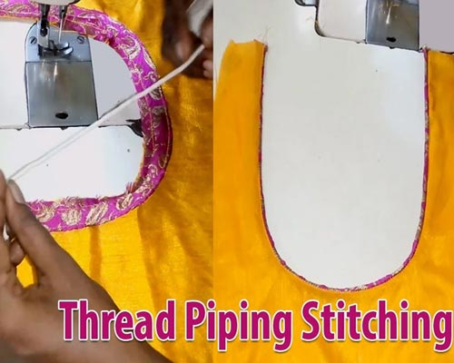 Thread Piping Stitching For Blouse
