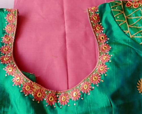 marriage blouse embroidery service cumbum