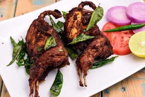Quail Fry Kaadai Varuval Restaurant Near Bodimett Highway