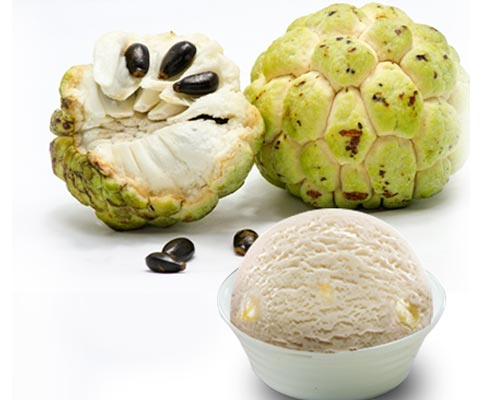 Fresh Sitafal Custard Apple Ice Cream For Event Suppliers Dindigul