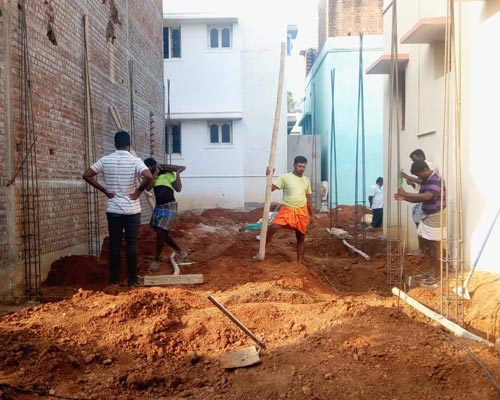 Periyakulam Building Renovation Work Theni