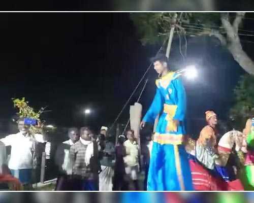 Poikkaal Kuthirai Aattam dancer dindigul