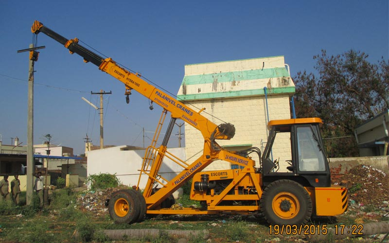 crane for transformer work theni