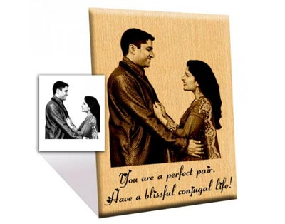 Wedding Engraved Wooden Photo Gift